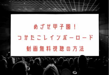 めざせ甲子園!つかたこレインボーロードの動画を無料で見れる動画配信まとめ